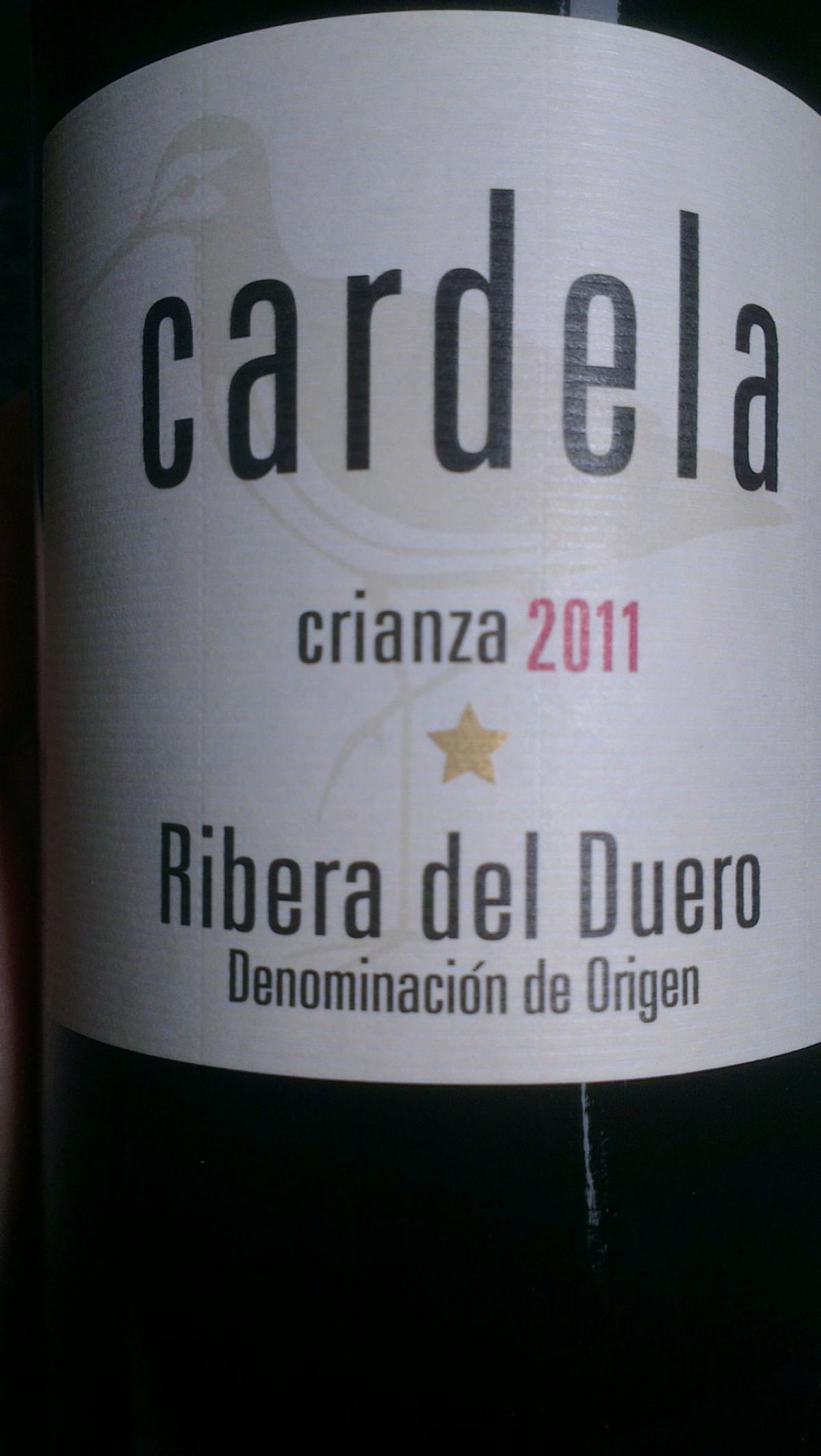 Cardela Crianza 2011, mucha fruta del Pago de Valderramiro