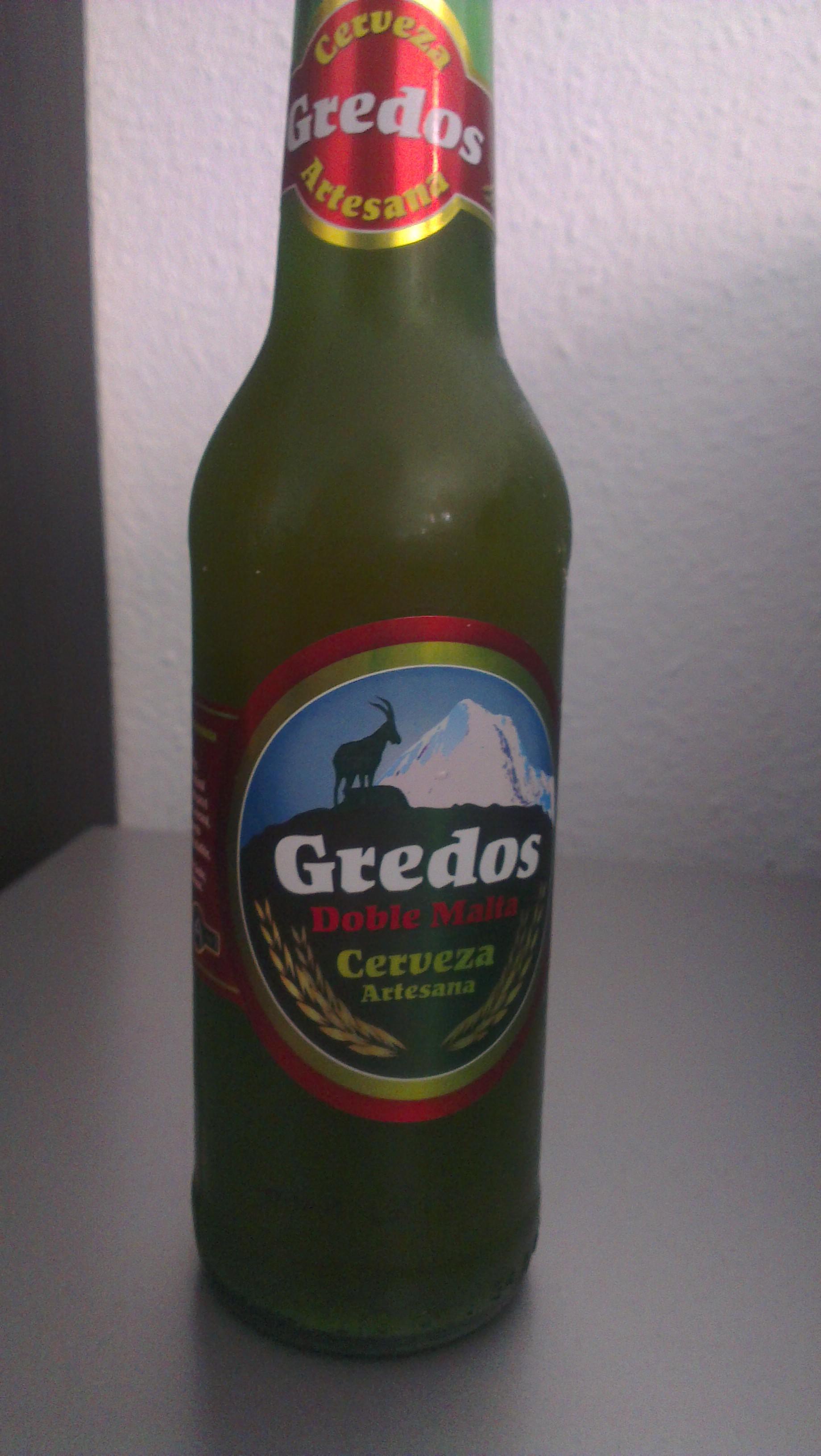 Cerveza Gredos Doble Malta, cerveza natural de la Sierra de Gredos