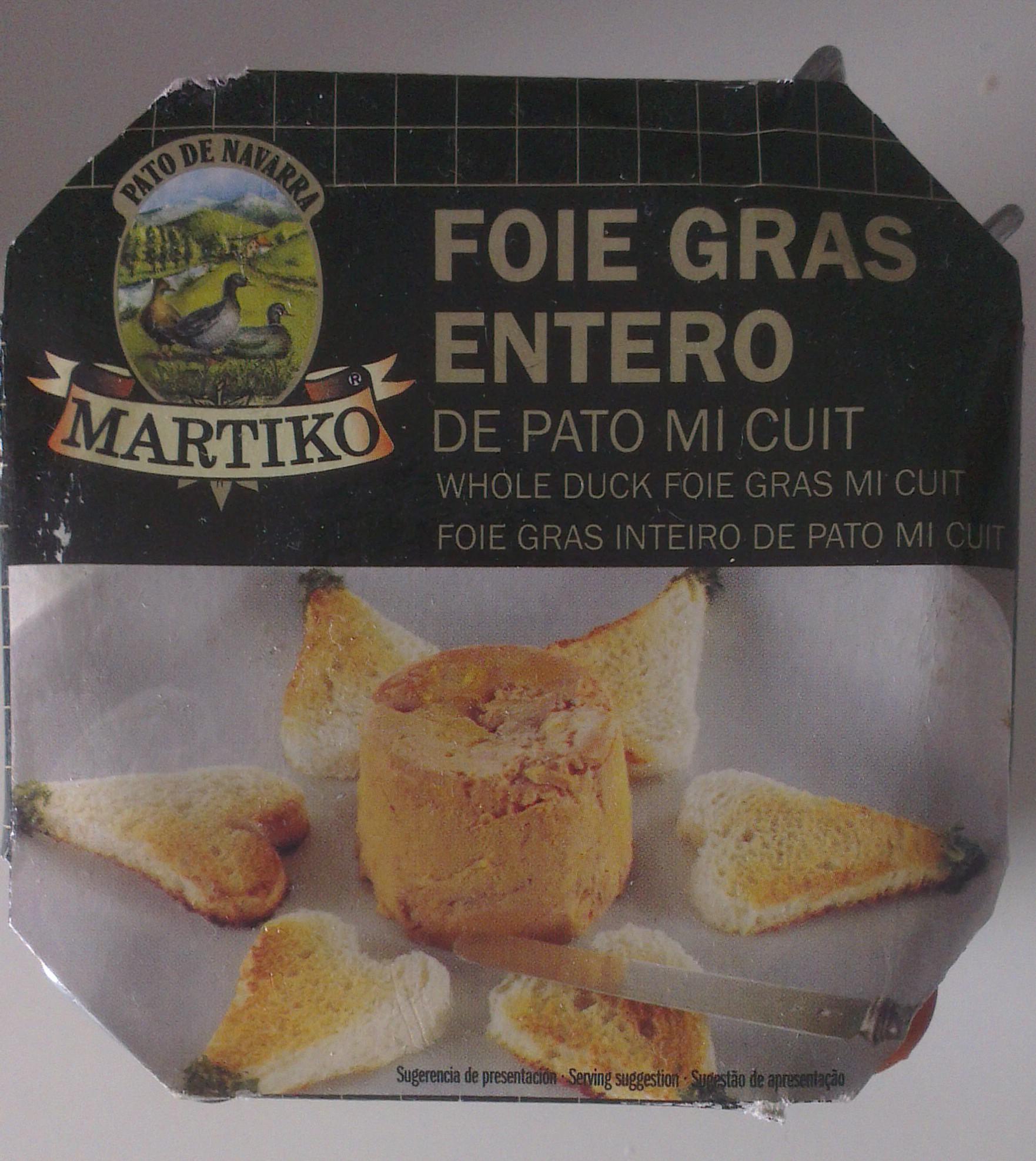Foie de pato Micuit markito