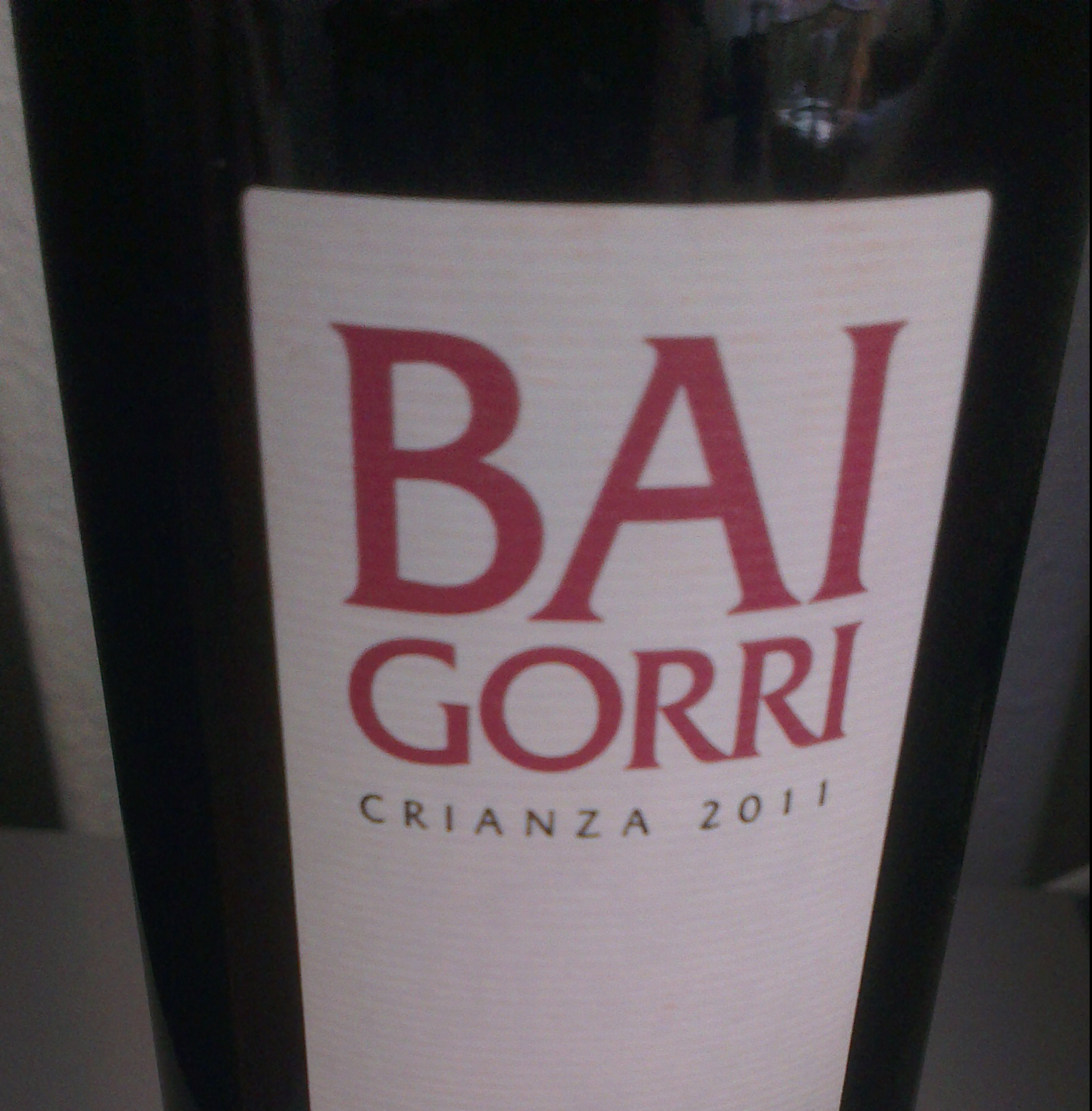 Baigorri crianza 2011, mucha fruta y madera de la Rioja Alavesa