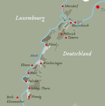 Mapa Mosel