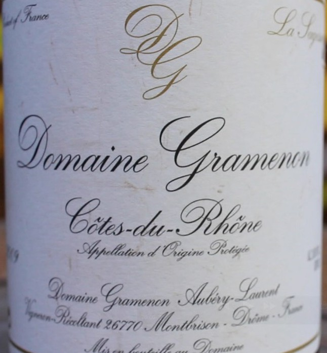 Côtes du Rhône La Sagesse 2012, vino biodinámico del sur del Ródano