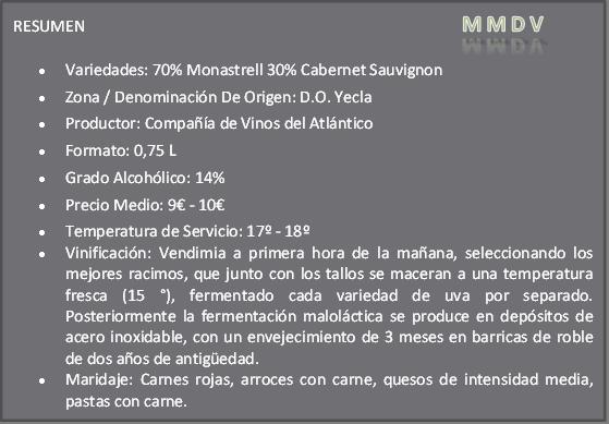 Gordo 2012 Compañía de Vinos Atlántico
