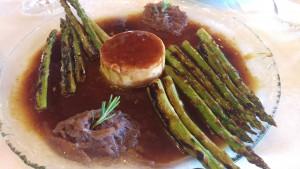 Micuit de pato y espárragos Restaurante el Llantar de la Sierra
