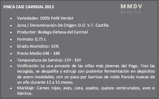 Finca Caiz Carrizal Petit Verdot 2012