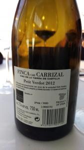 Finca Caiz Carrizal Petit Verdot 2012 Vino de la Tierra de Castilla