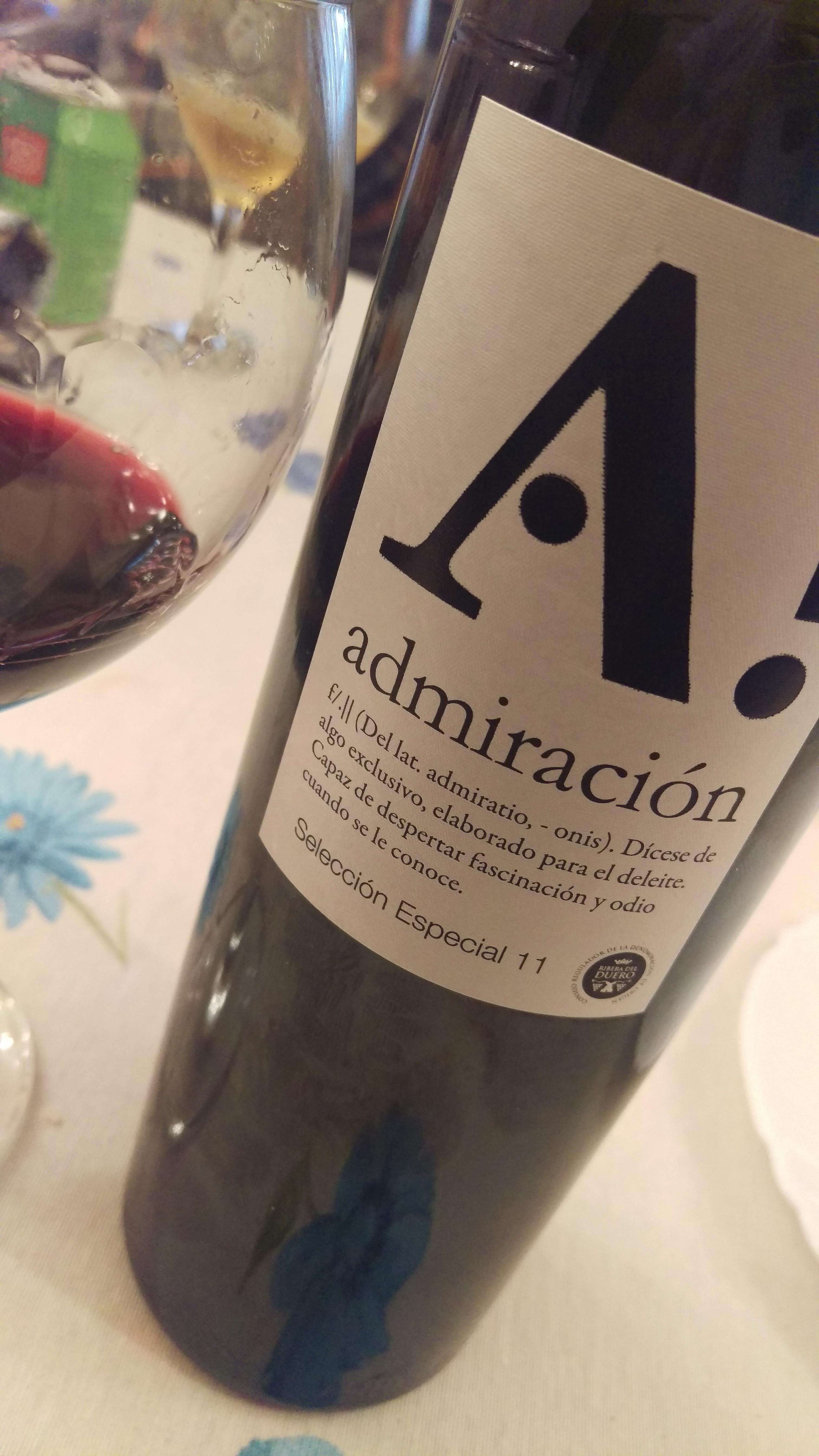 Admiración! Selección Especial 2011, gran vino de autor de Peñafiel!