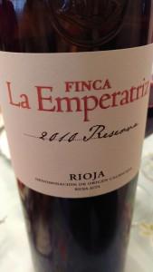 Finca La Emperatriz Reserva 2010 La Rioja