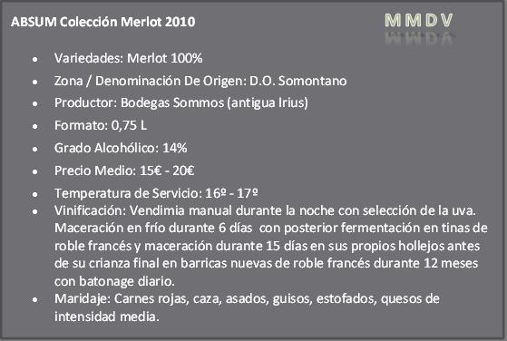 Absum Colección Merlot 2010