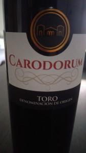 Carodorum Crianza 2012, Tinta de Toro DO Toro