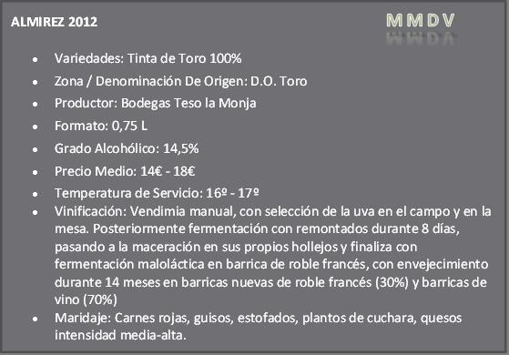 Almirez 2012 Do Toro Teso La Monja
