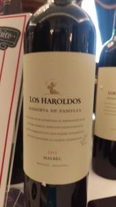 Los Haroldos Reserva de Famillia Malbec Argentina