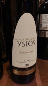 Ysios Reserva 2008 Do Rioja