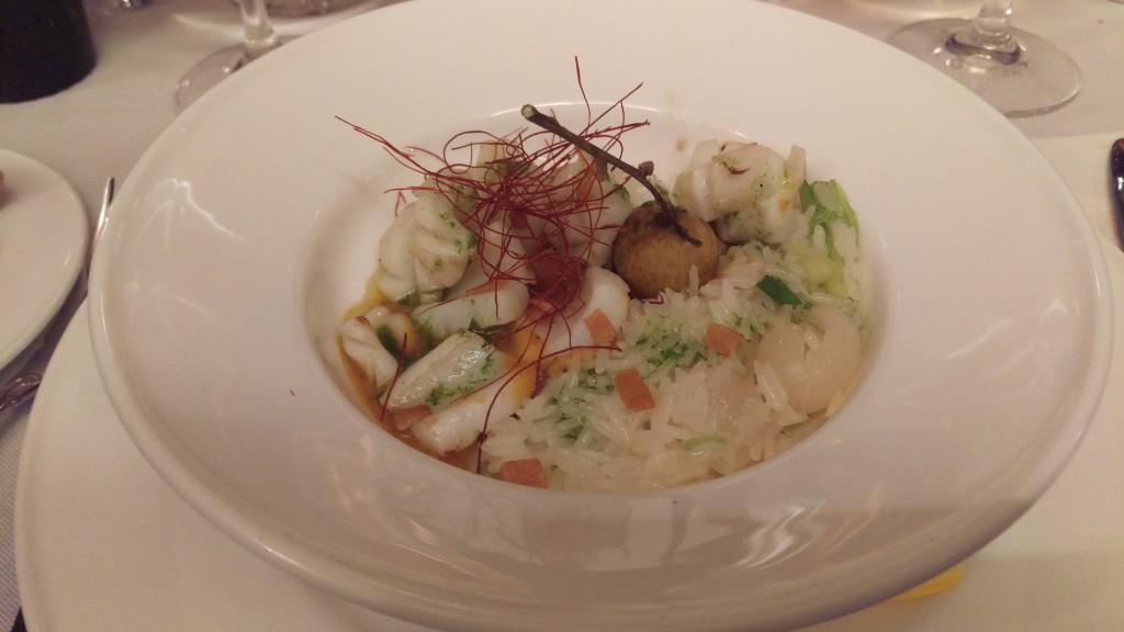Calamares del Delta del Ebro con Curry Rojo Restaurante Viridiana