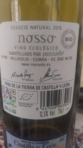 Nosso, Bodega Menade, Vinos de la Tierra de Castilla y León