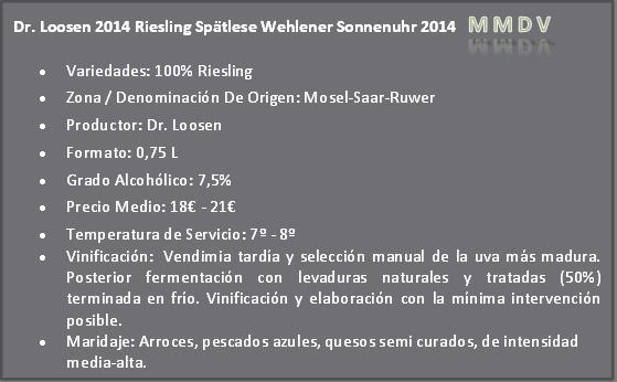 Dr. Loosen 2014 Riesling Spätlese Wehlener Sonnenuhr 2014