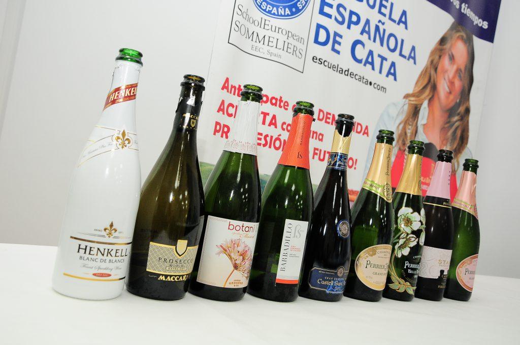 Botellas Champagne Escuela Española de Cata